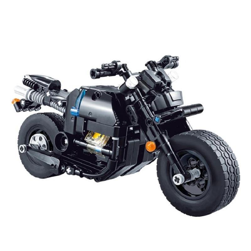 Decool Technic Motorcycle 265pcs Building Blocks set Eductional DIY Brick Toys Compatible MOC Technic 33001 3 - DECOOL