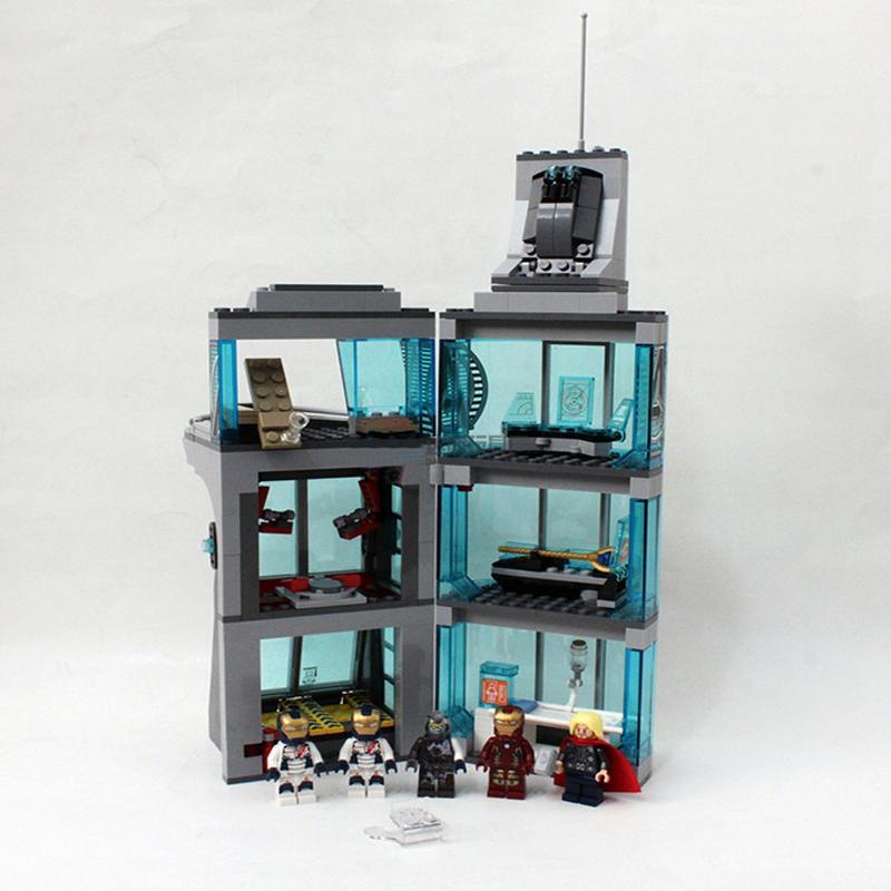 Decool compatible legoed Marvel Attack The Avengers Tower building blocks children assemble toys figures Iron Spide 1 - DECOOL