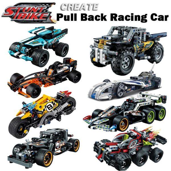 Decool legoings Pull Back Technic Car Racer MOC Truck DIY building blocks kids toys for children - DECOOL
