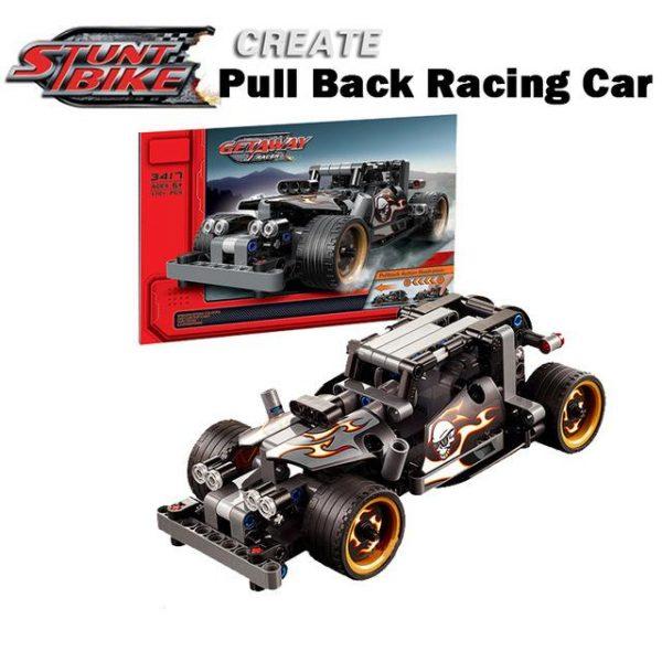 Decool legoings Pull Back Technic Car Racer MOC Truck DIY building blocks kids toys for - DECOOL