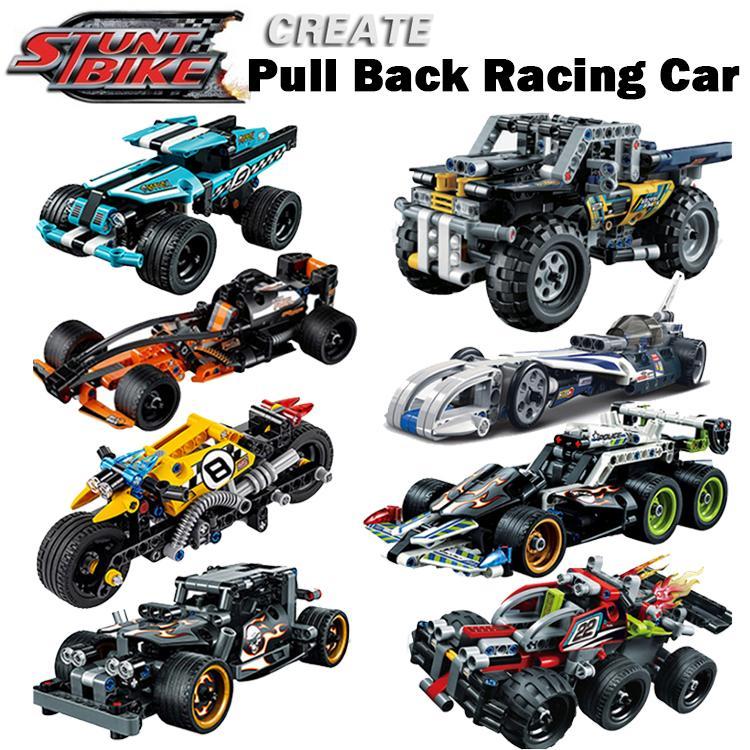 Decool legoings Pull Back Technic Car Racer MOC Truck DIY building blocks kids toys for children 1c6dca79 2b8b 465c 9971 fefbd9df309b - DECOOL