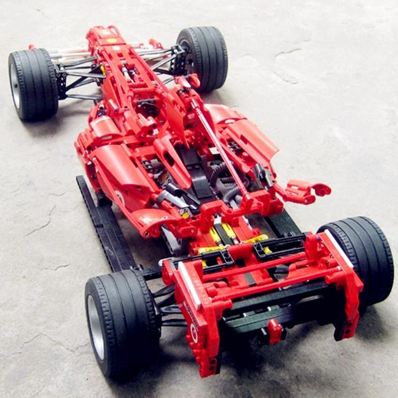 H HXY In Stock Formula Racing Car 1 8 Model 3335 Building Blocks Sets 1242pcs Educational - DECOOL