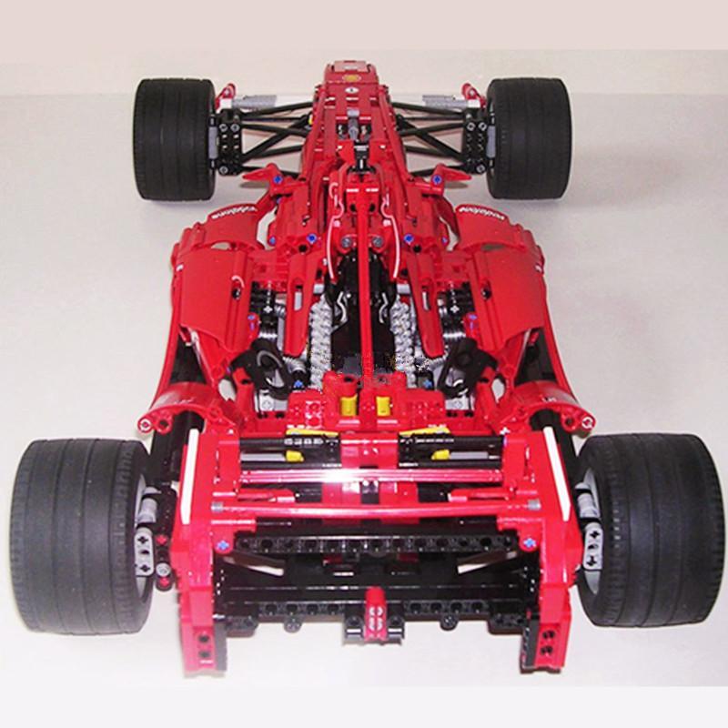 H HXY In Stock Formula Racing Car 1 8 Model 3335 Building Blocks Sets 1242pcs Educational 1 - DECOOL
