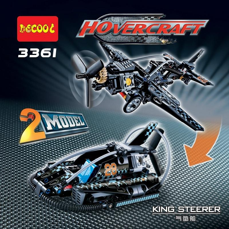 DECOOL 3361 Hovercraft Aircraft Fighter 2 In 1 Transformable Model Compatible LEGO 42002