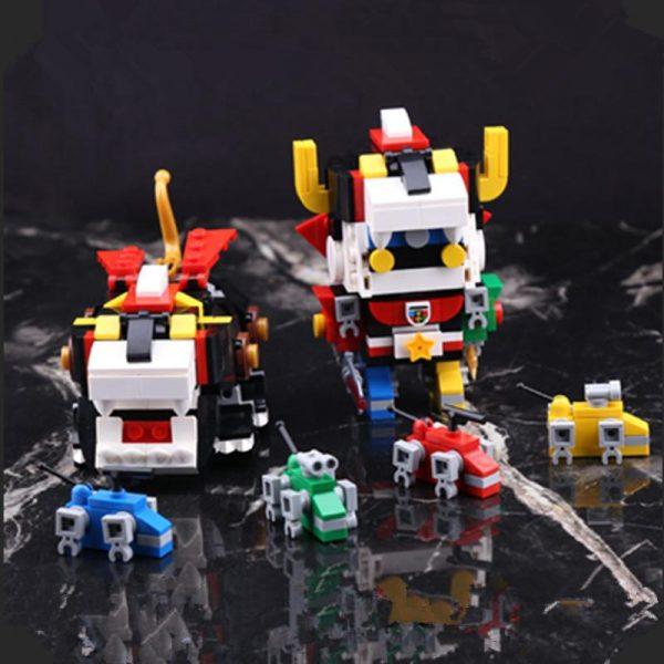 IN STOCK DECOOL 18002 455pcs Defender Of The Universe Brickheadz Voltron Beast King GoLion Robot Building - DECOOL