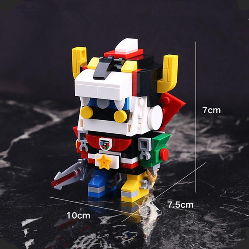 IN STOCK DECOOL 18002 455pcs Defender Of The Universe Brickheadz Voltron Beast King GoLion Robot Building 1 - DECOOL