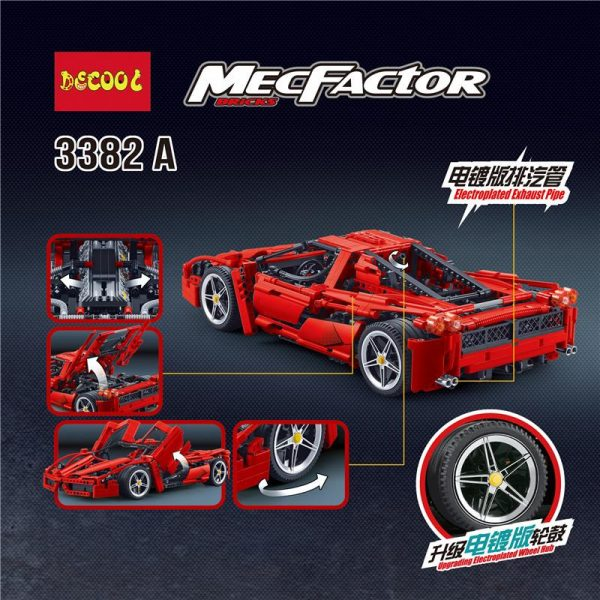 IN STOCK DECOOL 3382 1367Pcs technic formula speed Champions racer car sets model building blocks city 1 - DECOOL