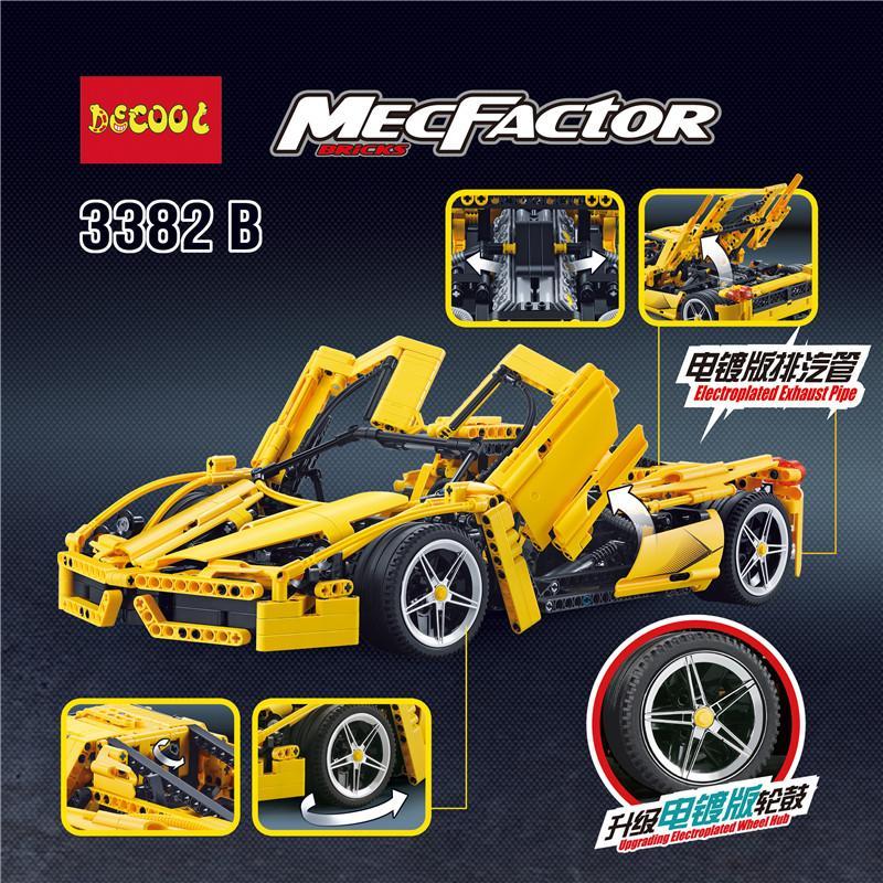 IN STOCK DECOOL 3382 1367Pcs technic formula speed Champions racer car sets model building blocks city 3 - DECOOL
