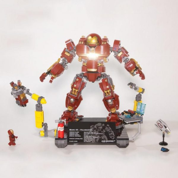Marvel Avenger Super Heros Iron Man Hulkbuster Ultron Edition Mech Building Blocks Model Toys Compatible 76105 - DECOOL