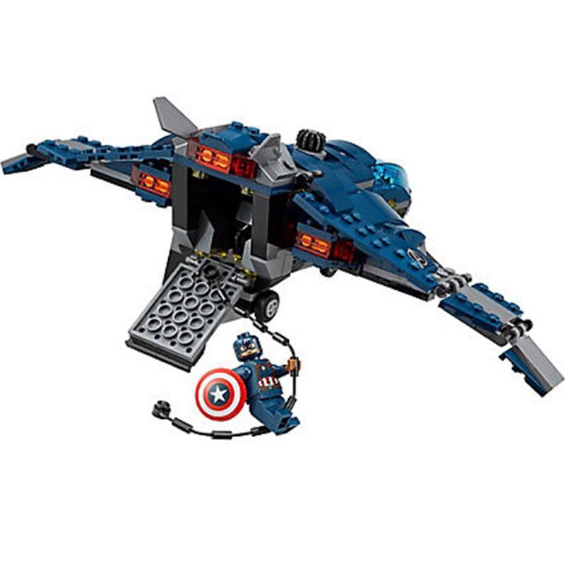 Marvel Super Hero Avengers Airport Battle Iron Man Giant Man Scarlet Witch Agent sim76051 kids gift 1 - DECOOL