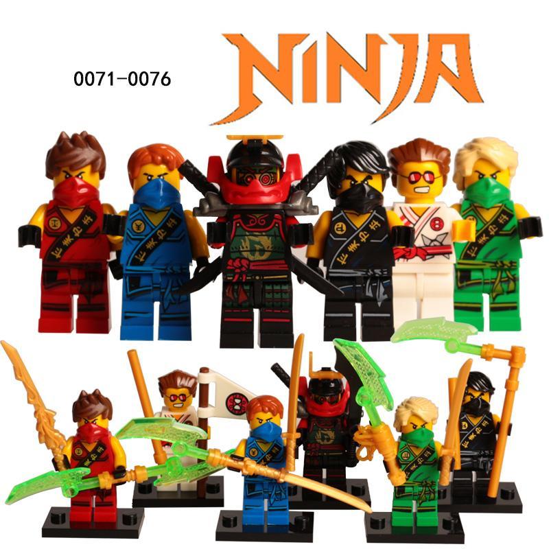 Newest Legoes Ninjagoes Building Blocks Mini Action Figure Golden Ninja Lloyd Nya With Weapons Toys For - DECOOL