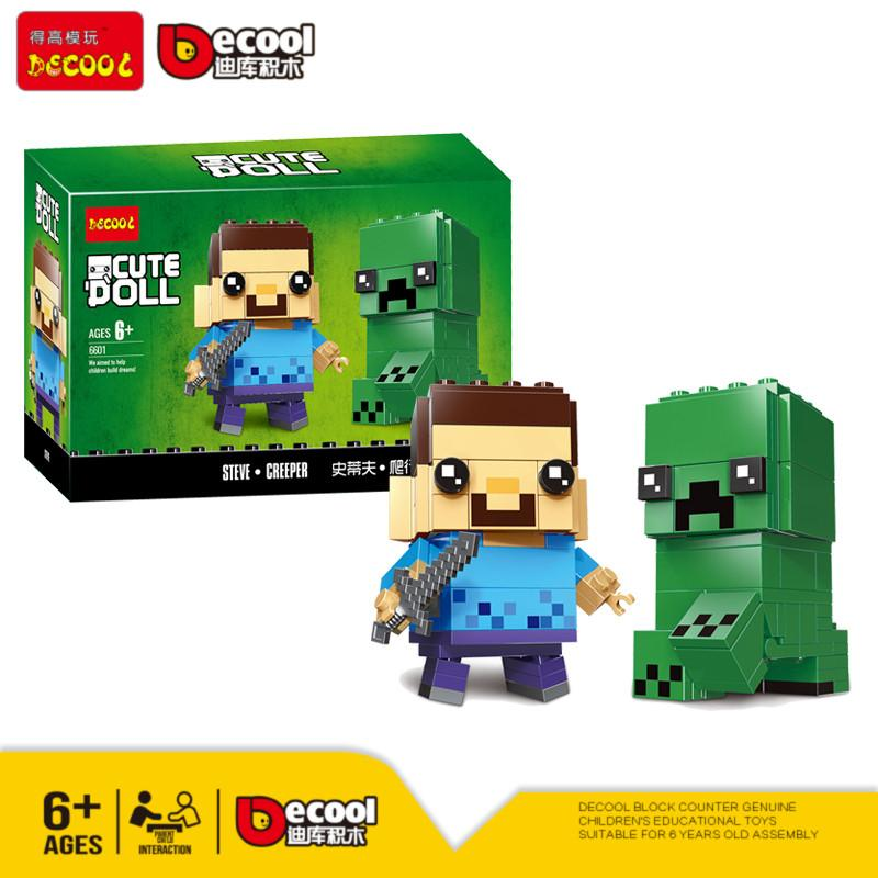 DECOOL 6601 Steve & Creeper BrickHeadz Compatible LEGO 41612