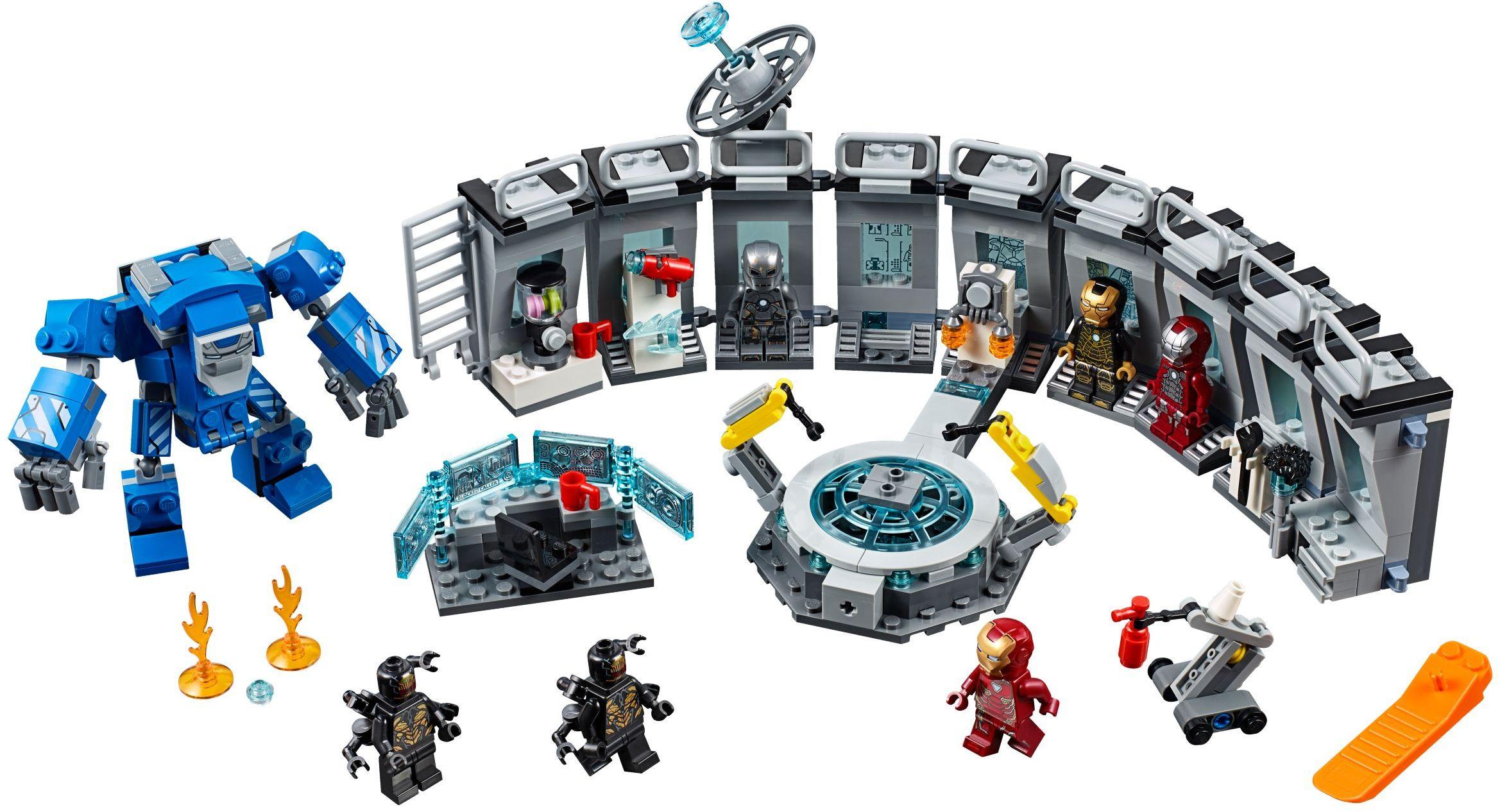 DECOOL 7138 Iron Man Mecha Showroom Iron Man Hall of Armour Super Hero Compatible LEGO 76125