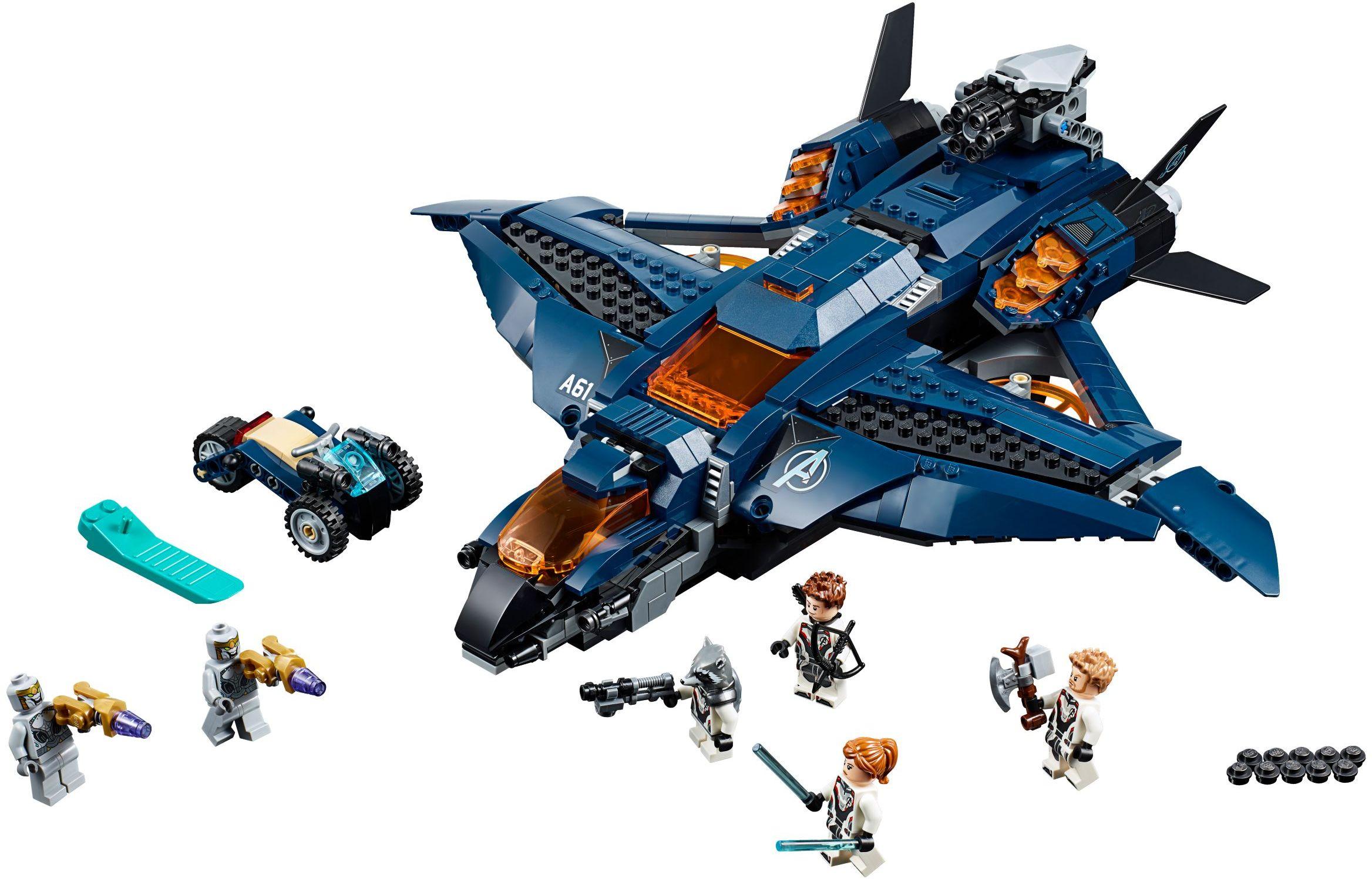 DECOOL 7141 Avengers Quinn Fighter (Delicate Edition) Avengers Ultimate Quinjet Super Heros Compatible LEGO 76126
